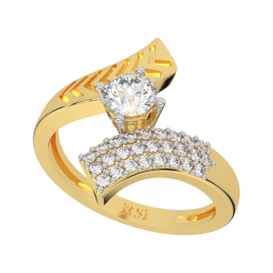 The Arrows Flight Gold Diamond Ring