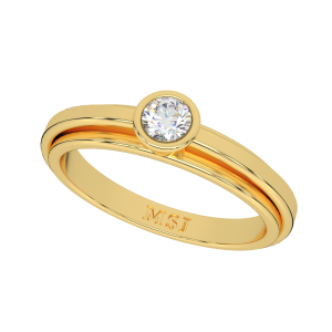 The Indistinguishable Gold Diamond Ring