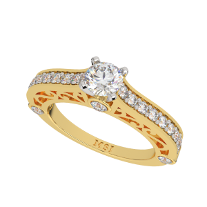 Show Who You Are Solitaire Diamond Ring