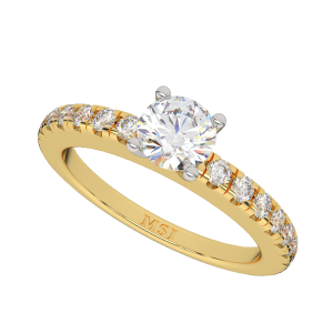 The Resonant Round Solitaire Diamond Ring