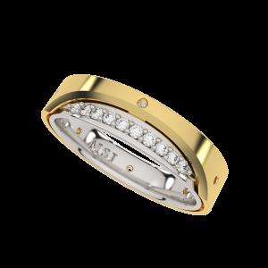 Seasoned With Love Couple Band Diamond Ring