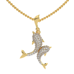 The Happiness Gold Diamond Pendant