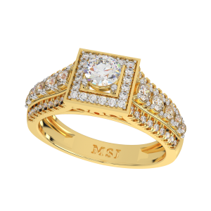 The Solitaire Essence Gold Diamond Ring