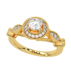 The Solitaire Saga Gold Diamond Ring