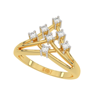 The Golden Maze Fashion Diamond Ring