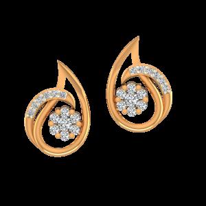 Gold Dazzle Drops Diamond Earrings