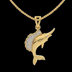 The Wonder Life Diamond Gold Pendant