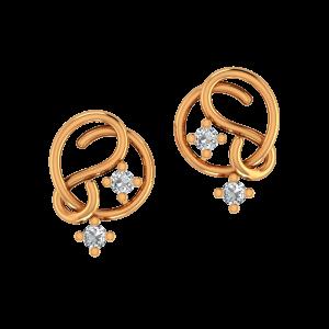 The Harmony Gold Diamond Earrings