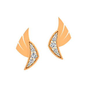 The Shiny Side Gold Diamond Earrings