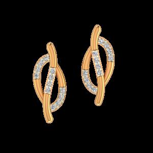 Golden Blush Gold Diamond Earrings