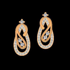The Bash Gold Diamond Earrings