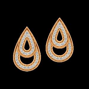 The Droplets Gold Diamond Earrings