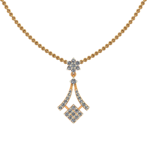 Seeping Square Diamond Pendant