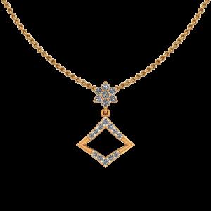 Floral Plaid Diamond Pendant