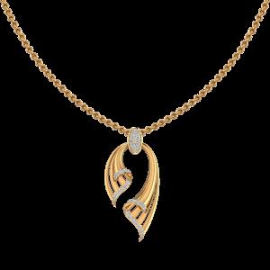 Golden Show Off Diamond Pendant