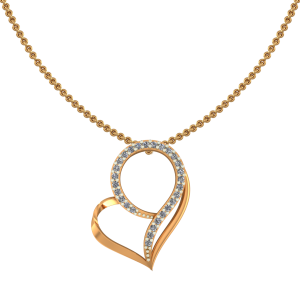 Heart`s Drama Diamond Pendant