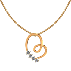 Dazzling Heart Diamond Pendant