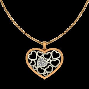 Shades Of Heart Diamond Pendant