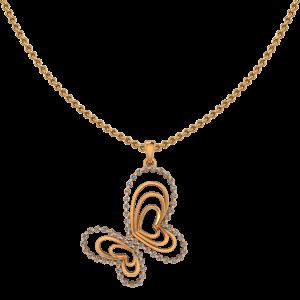Butterfly Belle Diamond Pendant