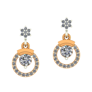 The Floral Touch Diamond Drop Earrings