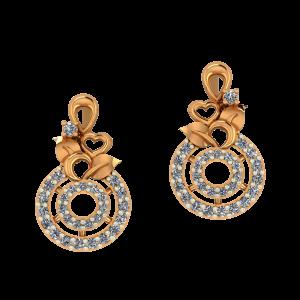 Nature Strokes Diamond Stud Earrings