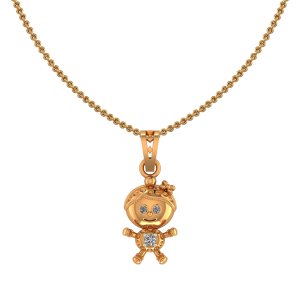 Cute Girl Diamond Kids Pendant