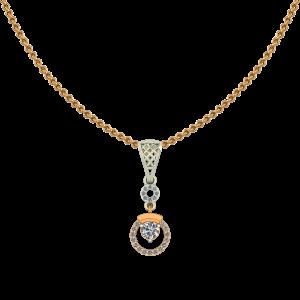 Hoop N Loop Diamond Pendant