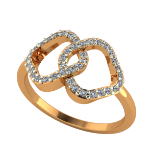 The Double Lines Diamond Ring