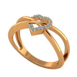Heart In Sync Diamond Ring