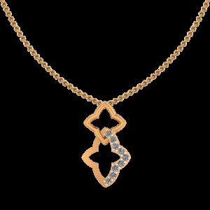 The Golden Stars Diamond Pendant