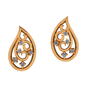 Paisley Play Diamond Earrings
