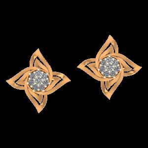 The Flower Pop Diamond Stud Earrings