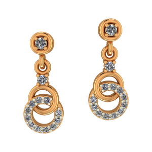Rule Of Loops Diamond Dangle Earrings