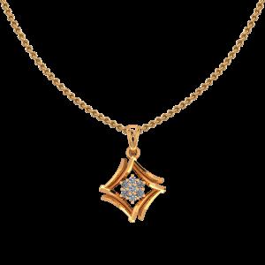 The Golden Frame Diamond Pendant