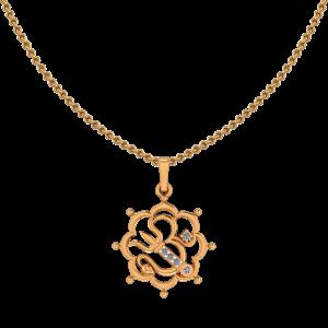 Auspicious Om Diamond Pendant