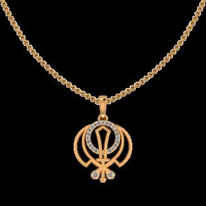 Auspicious Gold Diamond Pendant