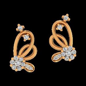 Floral Dalliance Diamond Earrings