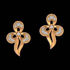 Floral Assemblage Diamond Earrings