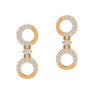 The Entwined Gold Diamond Earrings