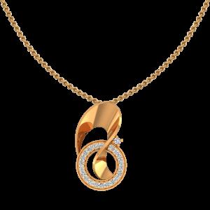 Entwined Beauty Gold Diamond Pendant