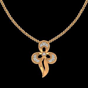 Floral Euphoria Gold Diamond Pendant