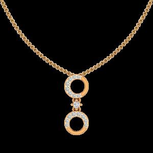 Hoop N Loop Gold Diamond Pendant