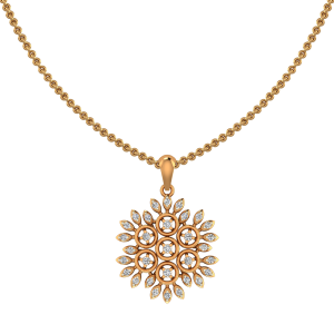 The Superflower Gold Diamond Pendant