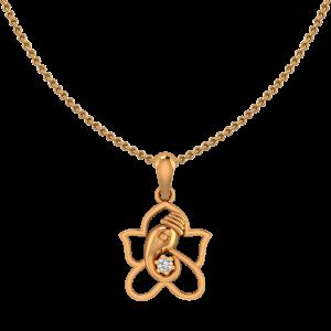 Lord Ganpati Diamond Pendant