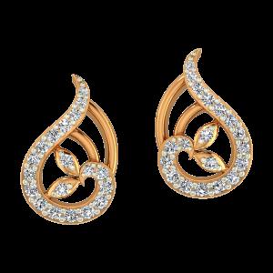 Paisley Affair Gold Diamond Earrings