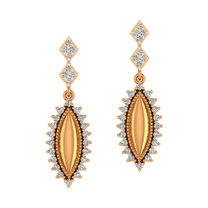Golden Glory Diamond Earrings