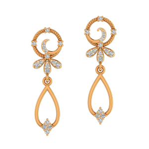 Floral Flurish Diamond Earrings