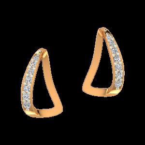 The Boats Gold Diamond Earrings