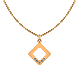 Cute Square Diamond Kids Pendant