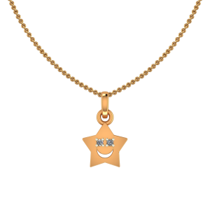 Cute Star Diamond Kids Pendant